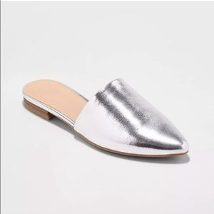 a new day | Metallic Silver Mules